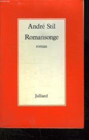 Romansonge. - Couverture - Format classique