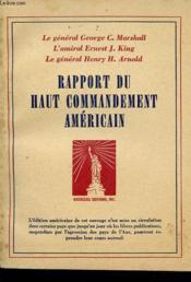 Rapport Du Haut Commandement Americain - Couverture - Format classique