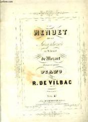 Menuet De La Symphonie En Mi Bemol De Mozart - Couverture - Format classique