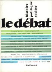 Revue Le Débat N.9 - Couverture - Format classique