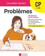 LES PETITS DEVOIRS ; problèmes ; CP - Couverture - Format classique