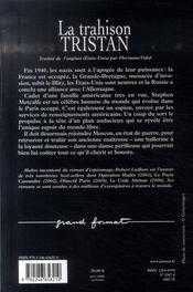 La trahison Tristan - 4ème de couverture - Format classique