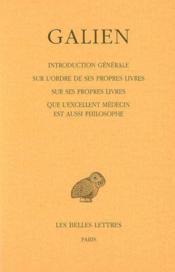 Introduction générale sur l'ordre de ses propres livres t.1 - Couverture - Format classique