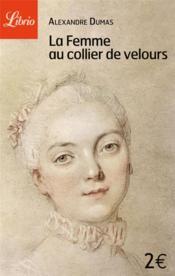 femme collier velours