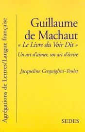 Guillaume De Machaut ; Livre Du Voir Dit - Intérieur - Format classique