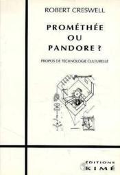 Promethee Ou Pandore - Couverture - Format classique