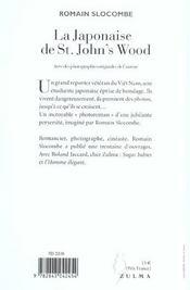 La Japonaise De St John S Wood - 4ème de couverture - Format classique