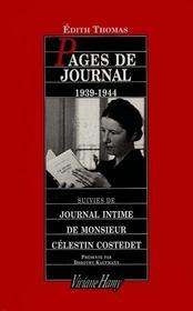 Pages de journal, 1939-1944 - Intérieur - Format classique
