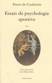 Essais de psychologie sportive - Couverture - Format classique
