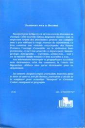 Passeport pour la Bigorre ; dictionnaire des communes et galérie des Bigourdans célèbres - 4ème de couverture - Format classique