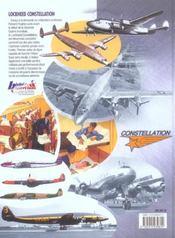 Lockheed constellation - 4ème de couverture - Format classique