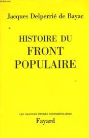 Histoire Du Front Populaire. - Couverture - Format classique