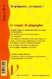 Le Croquis De Geographie Terminales L-Es - 4ème de couverture - Format classique