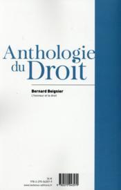 L'honneur et le droit - 4ème de couverture - Format classique