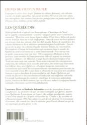 Les Québecois - 4ème de couverture - Format classique