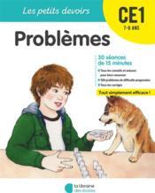 LES PETITS DEVOIRS ; problèmes ; CE1 - Couverture - Format classique
