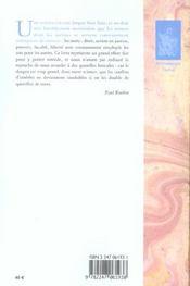Droits subjectifs et situations juridiques - 4ème de couverture - Format classique