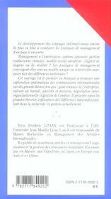 Management compare - 4ème de couverture - Format classique