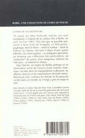 Chien Galeux Babel 84 - 4ème de couverture - Format classique
