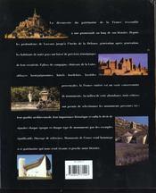 Monuments De France - 4ème de couverture - Format classique