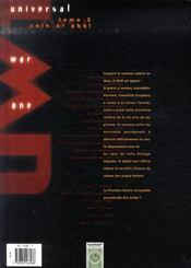 Universal war one t.3 ; Caïn et Abel - 4ème de couverture - Format classique