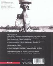 Maternite africaine, sculpture urhobo, nigeria - 4ème de couverture - Format classique