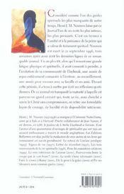 Journal De La Derniere Annee - 4ème de couverture - Format classique