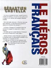 Sébastien Castella, le héros français - 4ème de couverture - Format classique