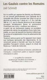 Les Gaulois contre les Romains - 4ème de couverture - Format classique