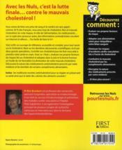 Contrôler son cholestérol pour les nuls - 4ème de couverture - Format classique