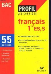 Français ; 1ère ES, S ; corrigés ; bac 1998 - Couverture - Format classique