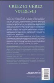Créez et gérez votre SCI - 4ème de couverture - Format classique