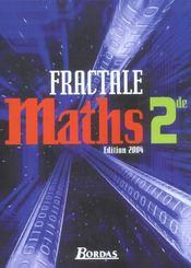 Maths 2de fractale manuel 04 (édition 2004) - Intérieur - Format classique