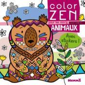 COLOR ZEN ; pour les mini'z animaux - Couverture - Format classique