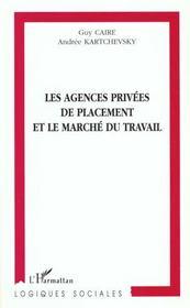 Les Agences Privees De Placement Et Le Marche Du Travail - Intérieur - Format classique