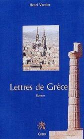 Lettres de Grèce - Couverture - Format classique