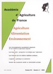 Comptes-rendus de l'aaf volume 90 n.2 ; les microorganismes nouvellement sequences et leur interet (édition 2004) - Couverture - Format classique