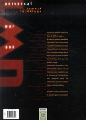 Universal war one t.4 ; le déluge - 4ème de couverture - Format classique