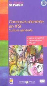 Concours d entree en ifsi 2003/2004 - Intérieur - Format classique