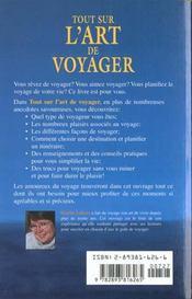 L'Art De Voyager - 4ème de couverture - Format classique