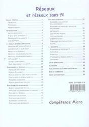 Competence Micro ; Réseaux Et Réseaux Sans Fil - 4ème de couverture - Format classique