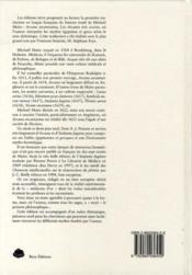 Les arcanes trés secrets de Michaël Maïer - 4ème de couverture - Format classique
