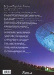 Les Grands Observatoires Du Monde - 4ème de couverture - Format classique