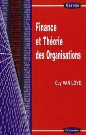 Finance Et Theories Organis... - Couverture - Format classique