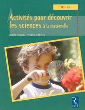 Activités pour découvrir les sciences à la maternelle ; MS, GS - Intérieur - Format classique