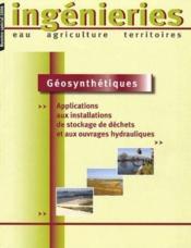 Géosynthétiques ; applications aux installations de stockage de déchets et aux ouvrages hydrauliques - Couverture - Format classique