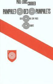 Pamphlet des pamphlets - Intérieur - Format classique