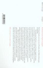 Pamphlet des pamphlets - 4ème de couverture - Format classique