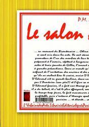 Le salon des refuses - 4ème de couverture - Format classique