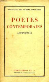 Poetes Contemporains, Anthologie - Couverture - Format classique